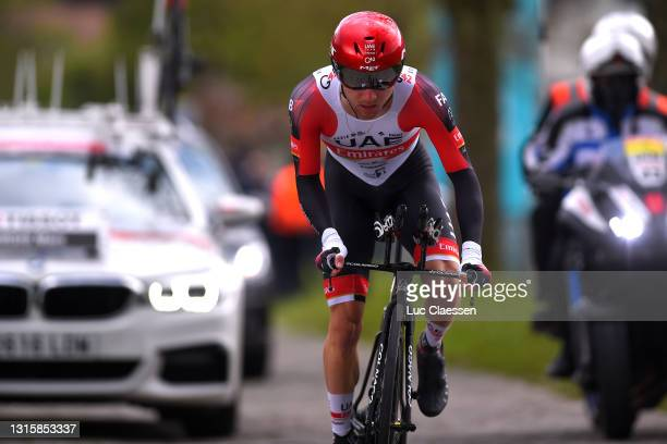 Marc Hirschi of Switzerland and UAE Team Emirates during the 74th Tour De Romandie 2021, Stage 5 a 16,19km Individual Time Trial stage from Fribourg...