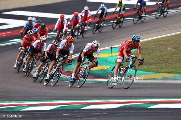 Marc Hirschi of Switzerland / Michael Schar of Switzerland / Simon Pellaud of Switzerland / Jonas Gregaard Wilsly of Denmark / Autodromo Enzo e Dino...