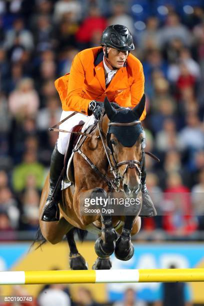Marc HOUTZAGER riding STERREHOF'S CALIMERO during the Prize of North RhineWestphalia of the World Equestrian Festival on July 21 2017 in Aachen...