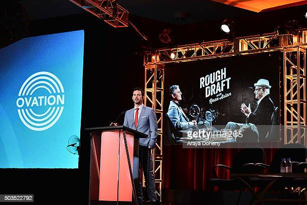 Marc Istook attends the Ovation 2016 Winter TCA Tour introducing three series featuring Rachel Hunter Reza Aslan Norman Lear And Yannick Bisson at...