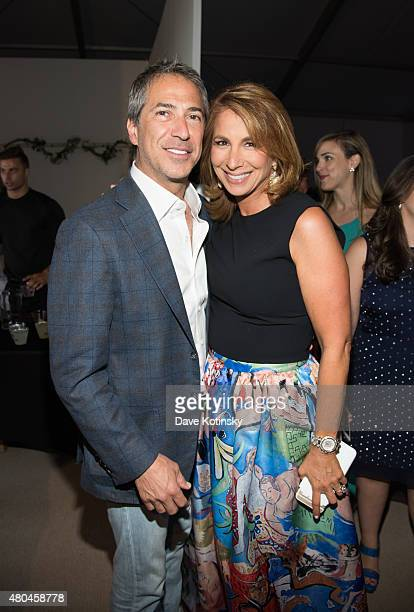Marc J. Leder and Jill Zarin attend the Samuel Waxman Cancer Research Foundation 11th Annual A Hamptons Happening on July 11, 2015 in Southampton,...