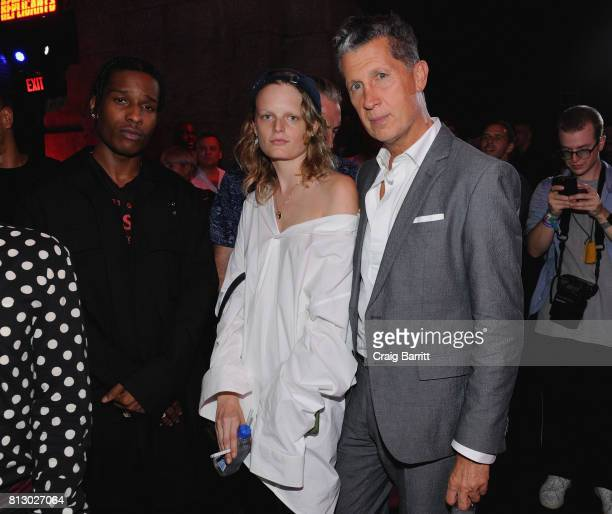 Marc Jacobs and A$AP Rocky attend FIJI Water At Raf Simons SS18 Runway Show at Golden Sun Life Day Care on July 11 2017 in New York City