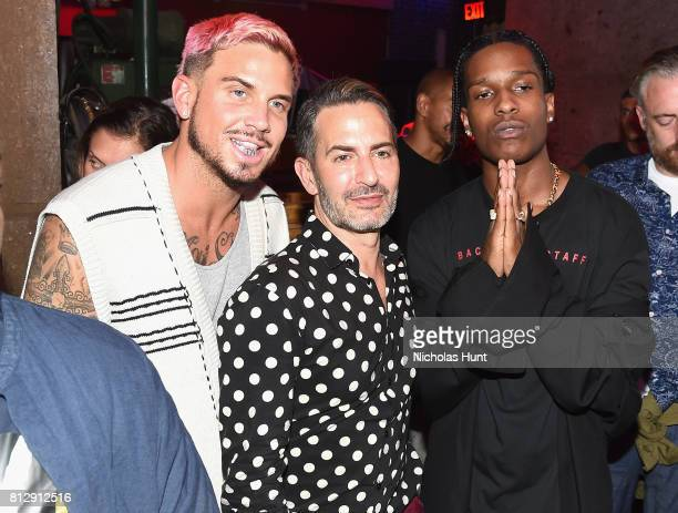 Marc Jacobs and A$AP Rocky attend the Raf Simons Front Row/Backstage at NYFW Men's July 2017 on July 11 2017 in New York City