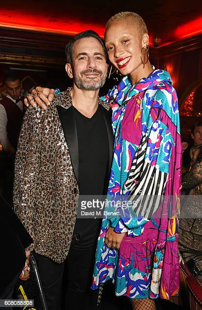 Marc Jacobs and Adwoa Aboah attend the LOVE Magazine and Marc Jacobs LFW Party to celebrate LOVE 165 collector's issue of LOVE and Berlin 1989 at...