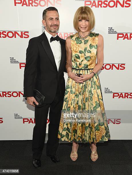 Marc Jacobs and Anna Wintour attend the 67th Annual Parsons Fashion Benefit at River Pavillion at the Jacob Javitz Center on May 19 2015 in New York...