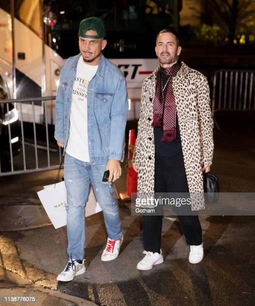 Marc Jacobs and Char DeFrancesco arrive at Gigi Hadid's birthday party at Chalet on April 22 2019 in New York City