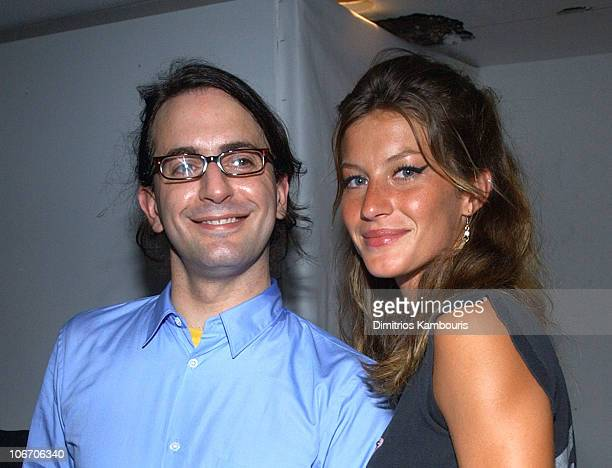 Marc Jacobs and Gisele Bundchen during MercedesBenz Fashion Week Spring Collections 2003 Marc Jacobs Show After Party at Maritime Hotel in New York...