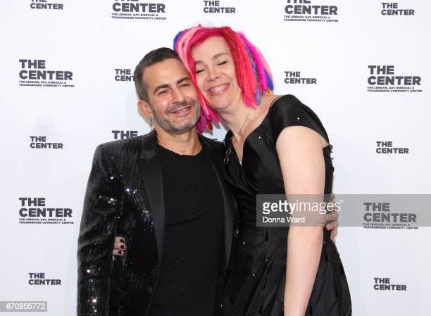 Marc Jacobs and Lana Wachowski arrive for The Center Dinner 2017 to honor Hillary Rodham Clinton and Marc Jacobs at Cipriani Wall Street on April 20...