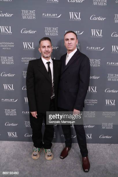 Marc Jacobs and Raf Simons during the WSJ Magazine 2017 Innovator Awards at Museum of Modern Art on November 1 2017 in New York City