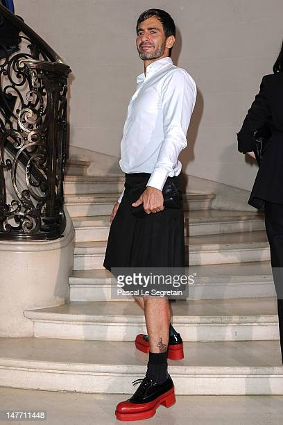 Marc Jacobs arrives at the Christian Dior HauteCouture show as part of Paris Fashion Week Fall / Winter 2013 on July 2 2012 in Paris France