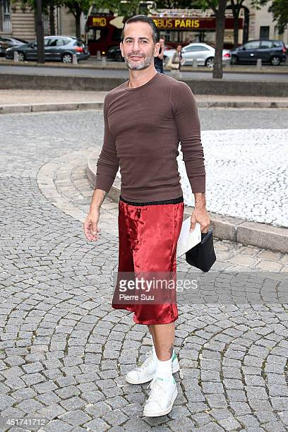 Marc Jacobs arrives at the Miu Miu Show for the Paris Fashion Week Haute Couture F/W 20142015 on July 5 2014 in Paris France