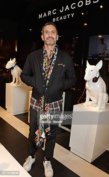 Marc Jacobs attends a QA hosted by Harrods to celebrate the exclusive launch of Marc Jacobs Beauty at Harrods on February 20 2016 in London England