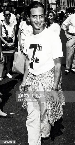 Marc Jacobs during 7th On Sale AIDS Fashion Photo Session July 19 1990 at 7th Avenue in New York City New York United States
