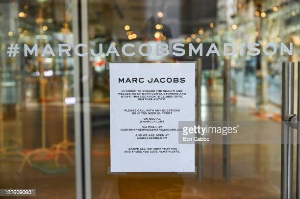 Marc Jacobs Madison is closed during the COVID19 pandemic on May 20 2020 in New York City COVID19 has spread to most countries around the world...