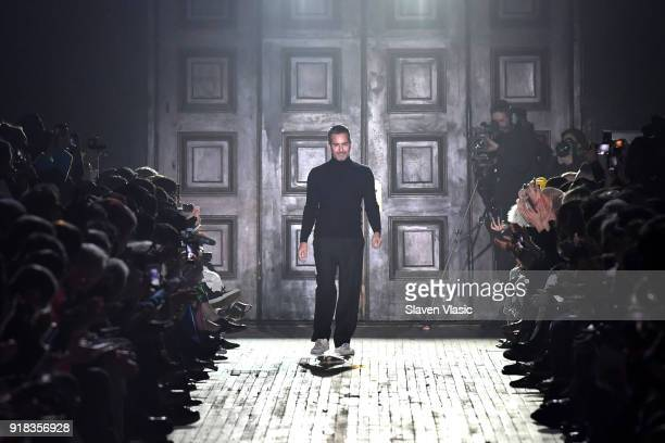 Marc Jacobs walks the runway during the Marc Jacobs Fall 2018 Show at Park Avenue Armory on February 14 2018 in New York City