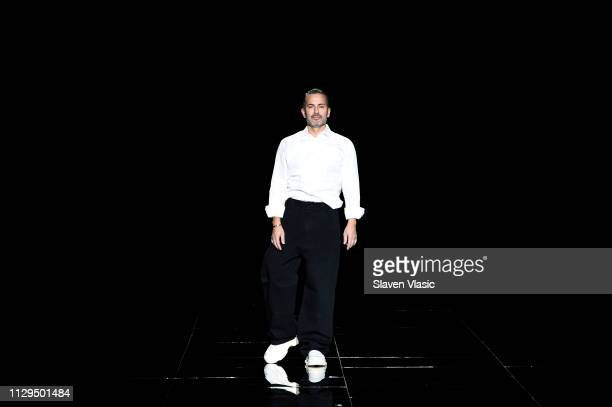 Marc Jacobs walks the runway for the Marc Jacobs Fall 2019 Show at Park Avenue Armory on February 13 2019 in New York City