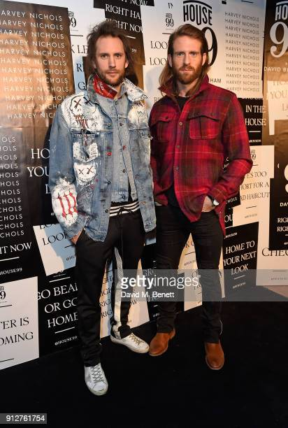 Marc Jacques Burton and Craig McGinlay attend House 99 brand launch at Harvey Nichols on January 31 2018 in London England