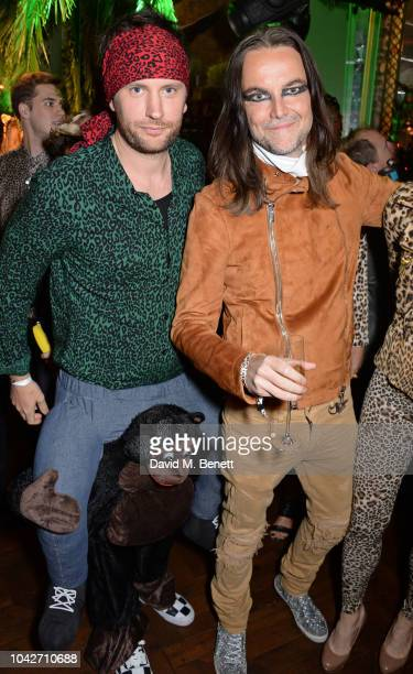 Marc Jacques Burton and Jason McNab attend the Jungle Party at Annabel's on September 28 2018 in London England