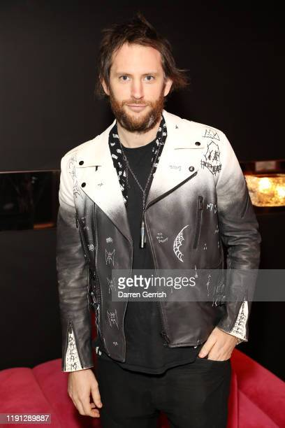 Marc Jacques Burton attends a Future Fantasy cocktail reception at Selfridges hosted by Noomi Rapace Miguel Nabil Elderkin and Jefferson Hack on...