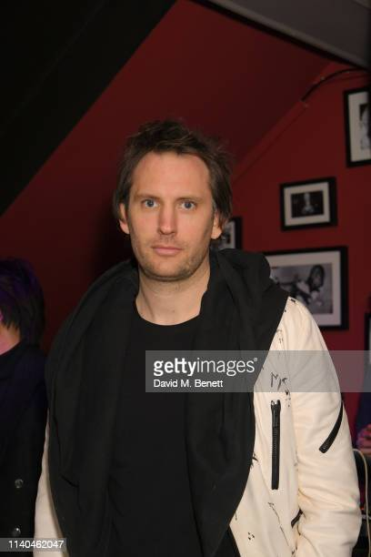 Marc Jacques Burton attends Alice Chater's birthday party at The Piano Bar Soho on April 04 2019 in London England