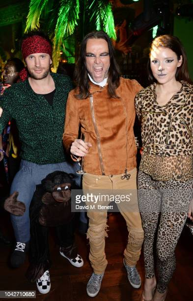 Marc Jacques Burton Jason McNab and Magdalena Sverlander attend the Jungle Party at Annabel's on September 28 2018 in London England