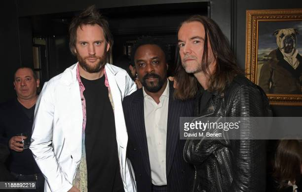 Marc JacquesBurton Ariyon Bakare and Jason McNab attend the Flaunt Magazine and Dunhill party celebrating 'The Voyage Issue' honouring Orlando Bloom...