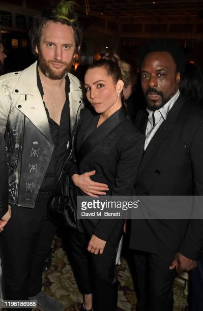 Marc JacquesBurton Noomi Rapace and Ariyon Bakare pose the Netflix BAFTA after party at Chiltern Firehouse on February 2 2020 in London England