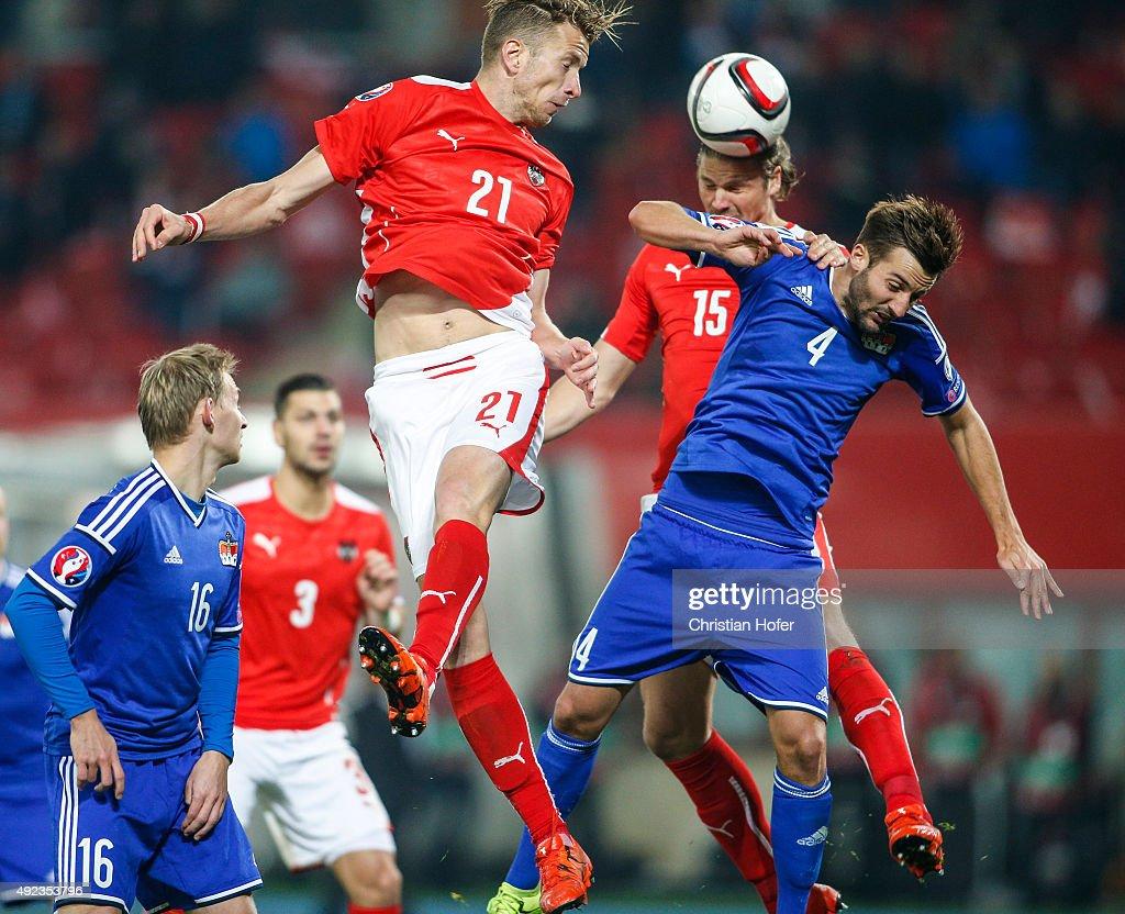Austria v Liechtenstein - UEFA EURO 2016 Qualifier : News Photo