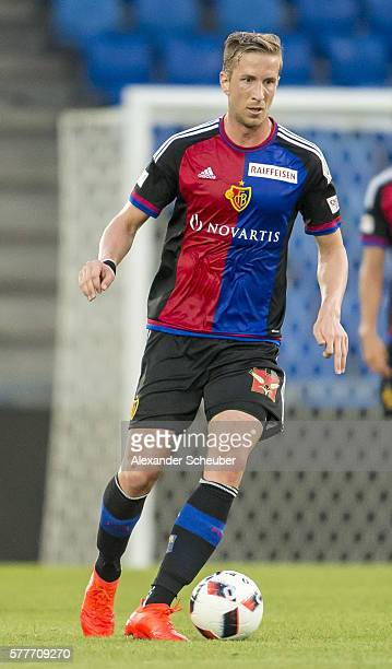 Marc Janko of FC Basel during the friendly match between FC Basel and VfL Wolfsburg at St JakobPark on July 19 2016 in Basel Switzerland