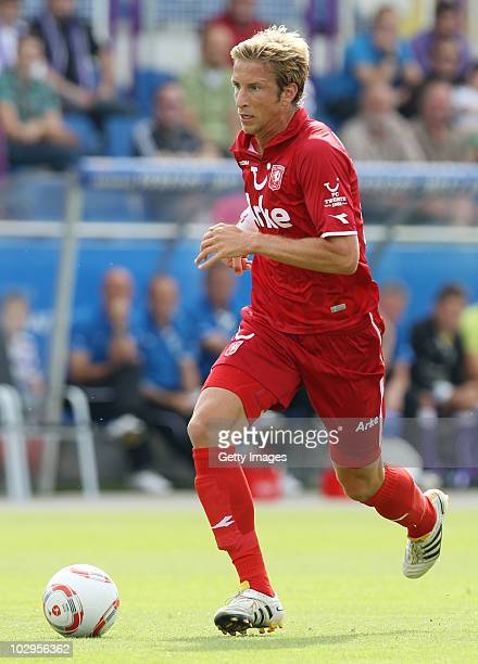 Marc Janko of Twente controls the ball during a friendly match between VfL Osnabrueck and Twente Enschede at the Osnatel Arena on July 17 2010 in...