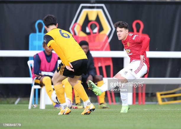 Marc Jurado of Manchester United U18s in action during the U18 Premier League match between Wolverhampton Wanderers U18s and Manchester United U18s...
