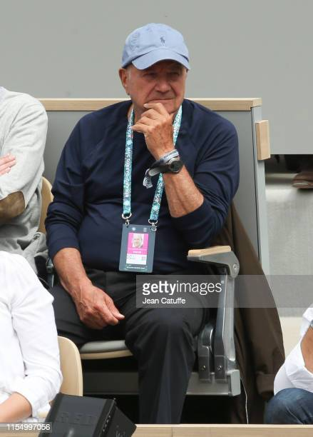 Marc Ladreit de Lacharriere attends the men's final during day 15 of the 2019 French Open at Roland Garros stadium on June 9 2019 in Paris France