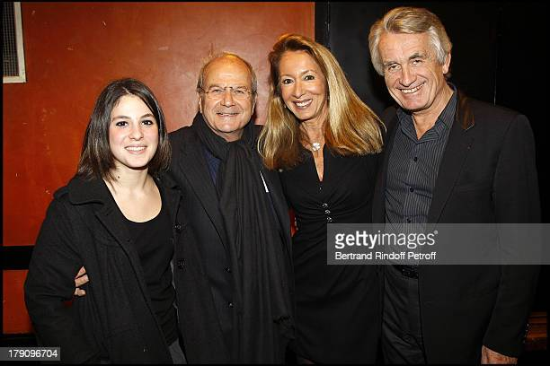 Marc Ladreit De Lacharriere with daughter and Nicole and Gilbert Coullier at The Laurent Gerra 2010 Show At Olympia In Paris
