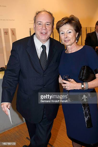 Marc Lambron and MarieLouise de Clermont Tonnerre attend the 8th Annual Dinner of the 'Societe Des Amis Du Musee D'Art Moderne' at Centre Pompidou on...