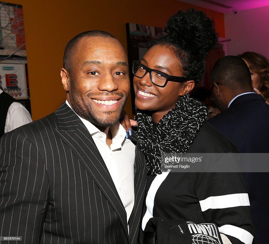Marc Lamont HIll and Scottie Beam attend the Being Mary Jane premiere screening and party on January 9, 2017 in New York City.