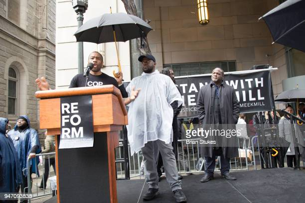 Marc Lamont Hill attends a rally protesting the imprisionment of Meek Mill outside the Philadelphia Criminal Justice Center during the rapper's...