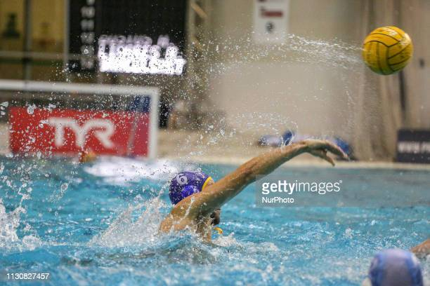 Marc Larumbe of Barceloneta during the Champions League water polo match between Pro Recco and Barceloneta on march 15 2019 at Piscina Monumentale in...
