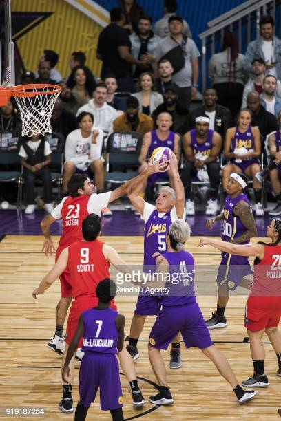 Marc Lasry of Team Lakers shoots during the 2018 NBA AllStar Celebrity Game as part of AllStar Weekend at the Los Angeles Convention Center in Los...