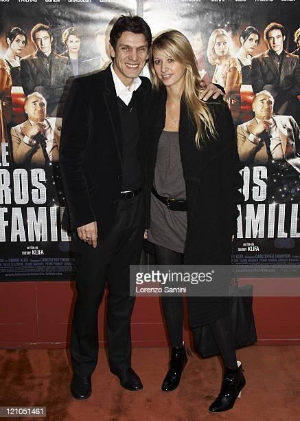 Marc Lavoine and Sarah Poniatowski during Le Heros de la Famille Paris Premiere in Paris France