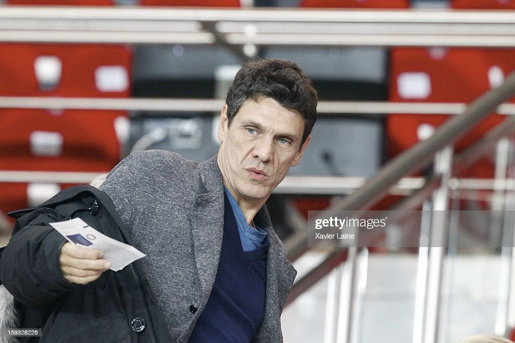 Marc Lavoine attends the French Ligue 1 between Paris Saint-Germain FC and Ajaccio AC, at Parc des Princes on January 11, 2013 in Paris, France.