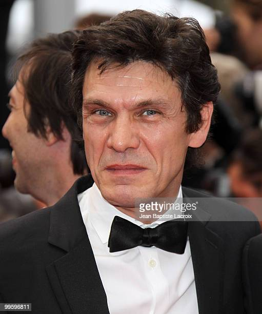 Marc Lavoine attends the 'You Will Meet A Tall Dark Stranger' Premiere held at the Palais des Festivals during the 63rd Annual International Cannes...