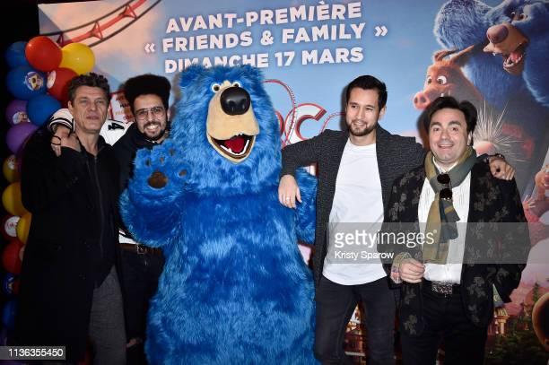 Marc Lavoine Dako Boomer Odah and Frederic Longbois at Cinema Gaumont attend the Le Parc des Merveilles Wonder Park Paris premiere at the Gaumont...