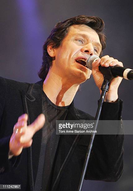 Marc Lavoine during Concert des Pieces Jaunes a Nice Yellow Coins Concert to Help Children in Hospitals at Theatre de Verdure in Nice France