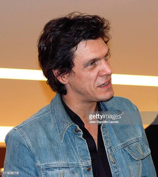 Marc Lavoine during Marc Lavoine Signing Autographs Paris at Champs Elysees in Paris France