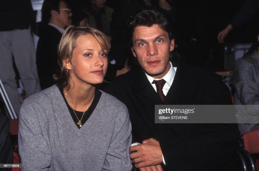 Marc Lavoine Et Sa Femme Sarah Lors D Un Defile De Mode Masculine A News Photo Getty Images