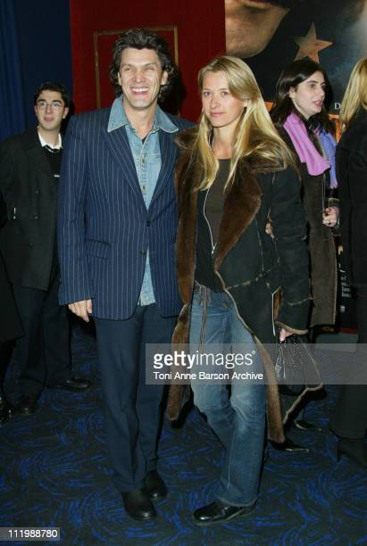 Marc Lavoine Wife Sarah Poniatowski during Gangs of New York Premiere Paris at UGC Normandy Champs Elysees in Paris France