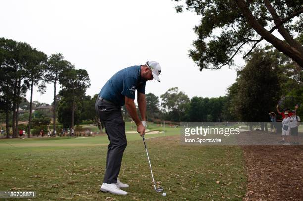 Marc Leishman hits his approach shot during round 2 of The Australian Open Golf at The Australian Golf Club on December 06 2019 in Sydney Australia