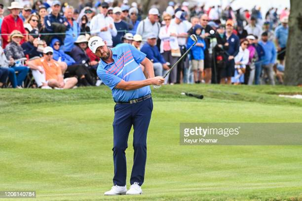 Marc Leishman of Australia chips a shot to the sixth hole green during the final round of the Arnold Palmer Invitational presented by MasterCard at...