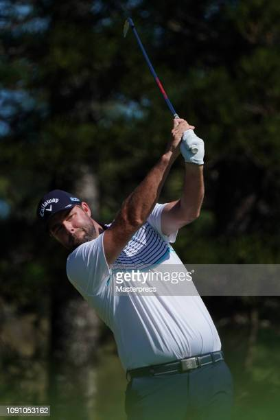 Marc Leishman of Australia hits a tee shot on the 2nd hole during the final round of the Sentry Tournament of Champions at the Plantation Course at...