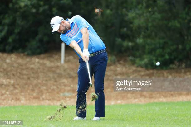 Marc Leishman of Australia plays a shot during the final round of the Arnold Palmer Invitational Presented by MasterCard at the Bay Hill Club and...